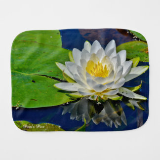 White Water Lily Burp Cloth