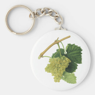White Wine Grapes on the Vine, Vintage Food Fruit Key Ring