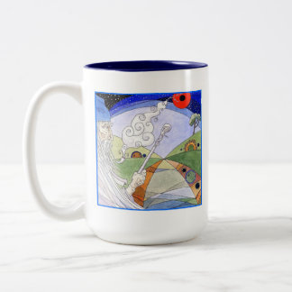 White Wizard Two-Tone Coffee Mug