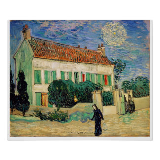 Whitehousenight, White House at Night by Van Gogh Poster