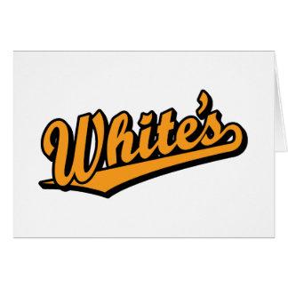 White's in Orange Card