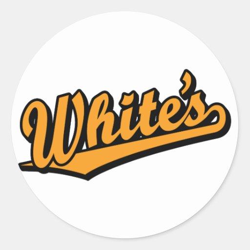White's in Orange Sticker