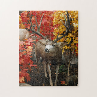 Whitetail In Autumn Jigsaw Puzzle