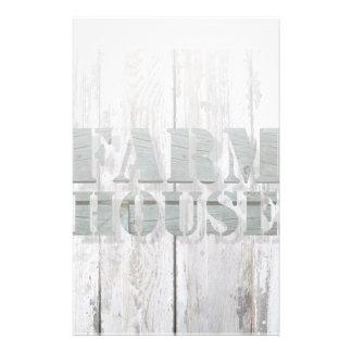 whitewashed barn wood western country farmhouse stationery