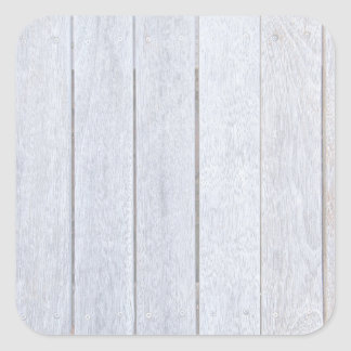 Whitewashed Old Weathered Wood Background Wooden Square Sticker