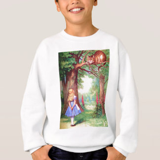 """""""WHO ARE YOU?"""" THE CHESHIRE CAT ASKS ALICE. SWEATSHIRT"""