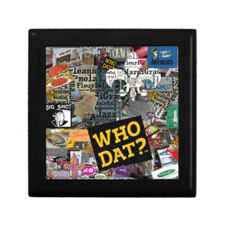WHO DAT Collage Art Gift Box