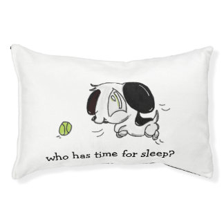 Who Has Time For Sleep? Playful Puppy Dog Bed
