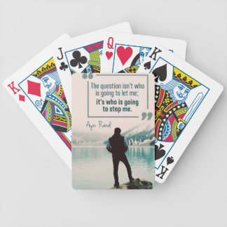 Who Is Going To Stop Me Poker Deck