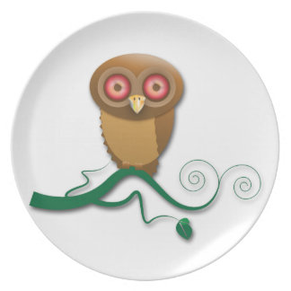 who me? says the owl plate