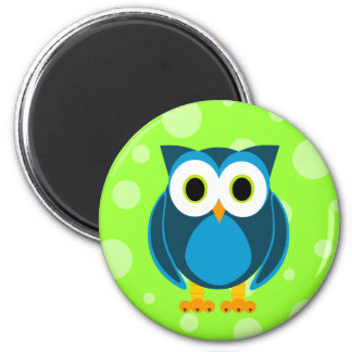 Who? Mr. Owl Cartoon 6 Cm Round Magnet