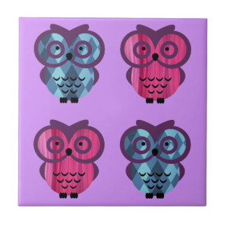 Who, who, who loves owls? small square tile