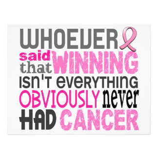 Whoever Said Breast Cancer 21.5 Cm X 28 Cm Flyer