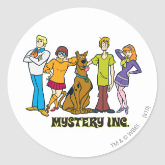 Whole Gang 12 Mystery Inc Classic Round Sticker