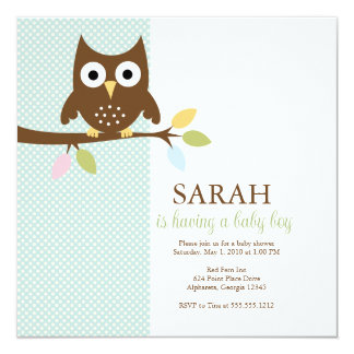 {whooo is having a baby?} invite