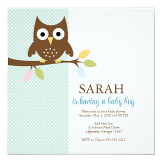{whooo is having a baby?} invitations