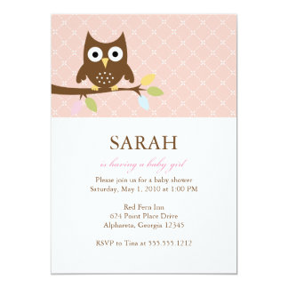 {whooo is having a baby?} custom announcements