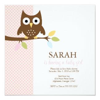 {whooo is having a baby?} custom invitations