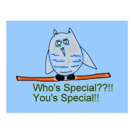 Whos special Owl Postcard
