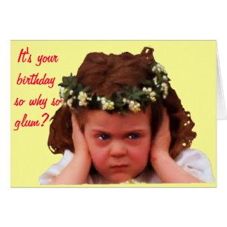Why So Glum? Greeting Card