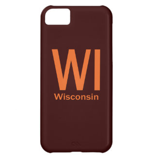 WI Wisconsin plain orange iPhone 5C Case