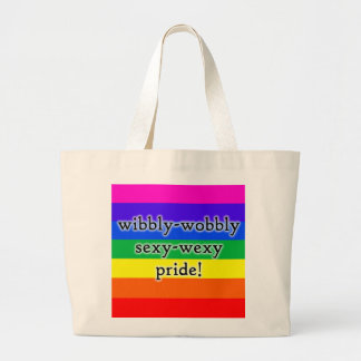 Wibbly-wobbly sexy-wexy rainbow pride bag