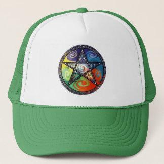 Wiccan Pentagram Trucker Hat