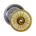 Wiccan Wheel of the Year Pinback Buttons