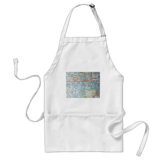 Wichita, KS Vintage Map Standard Apron