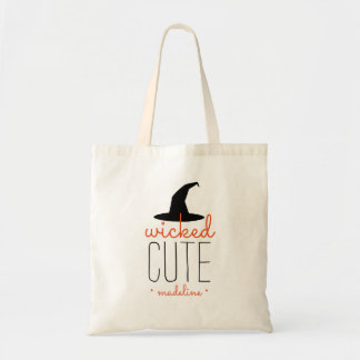Wicked Cute Personalized Halloween Budget Tote Bag