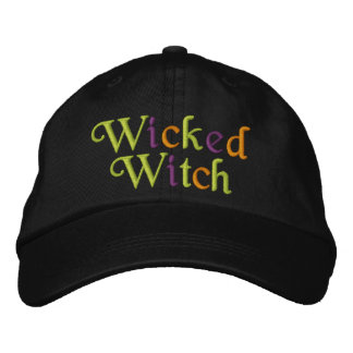 Wicked Witch Embroidered Cap