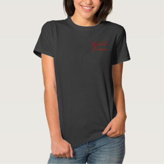 Wicked Woman Embroidered T-shirt