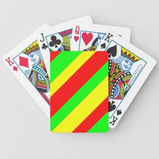 Wide Rasta Stripes Poker Deck