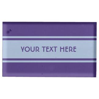 Wide Stripes custom table card holder