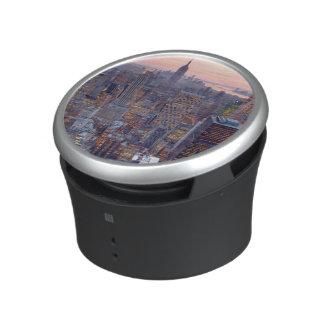 Wide view of Manhattan at sunset Bluetooth Speaker
