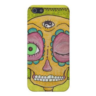 wierd sugar skull iPhone 5/5S case