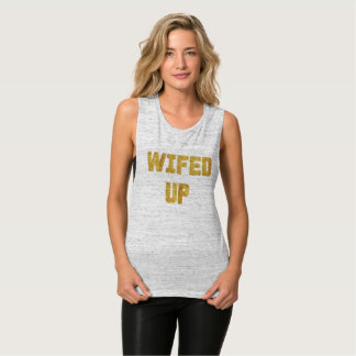 Wifed Up Bride Gold Foil Tank