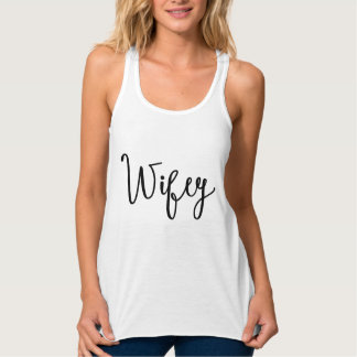 Wifey | Modern Calligraphy Tank Top