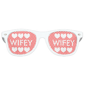 WIFEY wedding party shades for bride and new wife