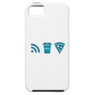 Wifi-Coffee-Pizza iPhone 5 Cover