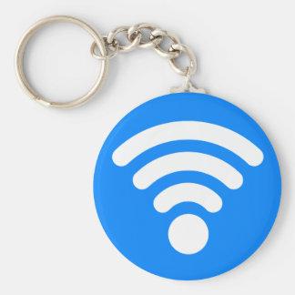 Wifi Symbol Basic Round Button Key Ring