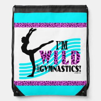 Wild About Gymnastics Drawstring Bag