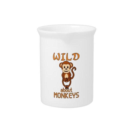 Wild About Monkeys Pitcher