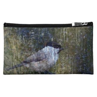 Wild  Abstract Chickadee Cosmetic Bag