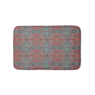 Wild and Colorful Tribal Pattern Bath Mat