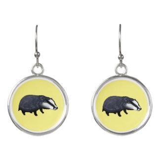 wild animal baby badger earrings