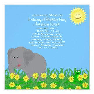 Wild Animal Party Invitation