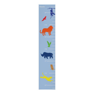 Wild Animals Growth Chart Poster