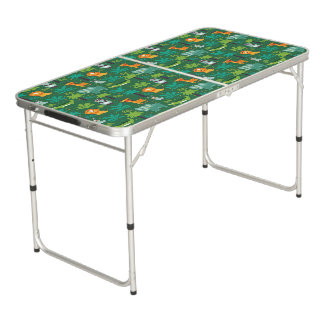Wild Animals In Jungle Pong Table