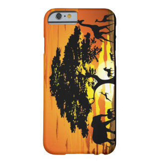 Wild Animals on Savannah Sunset iPhone 6 case Barely There iPhone 6 Case